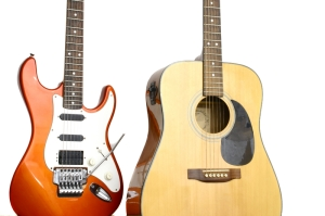 Acoustic and Electric Guitar